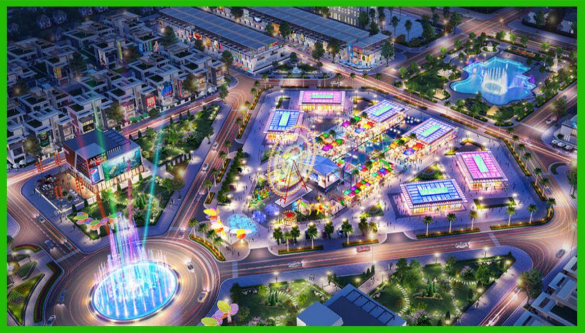 Công viên quảng trường ánh sáng tại dự án Gem Sky World
