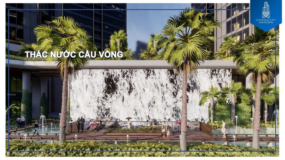 thac-nuoc-cau-vong-tai-sunshine-city