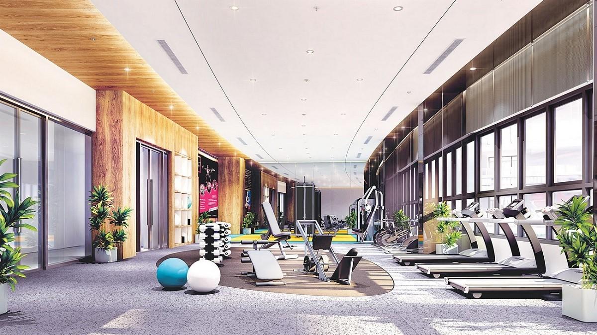 Không gian phòng gym hiện đại