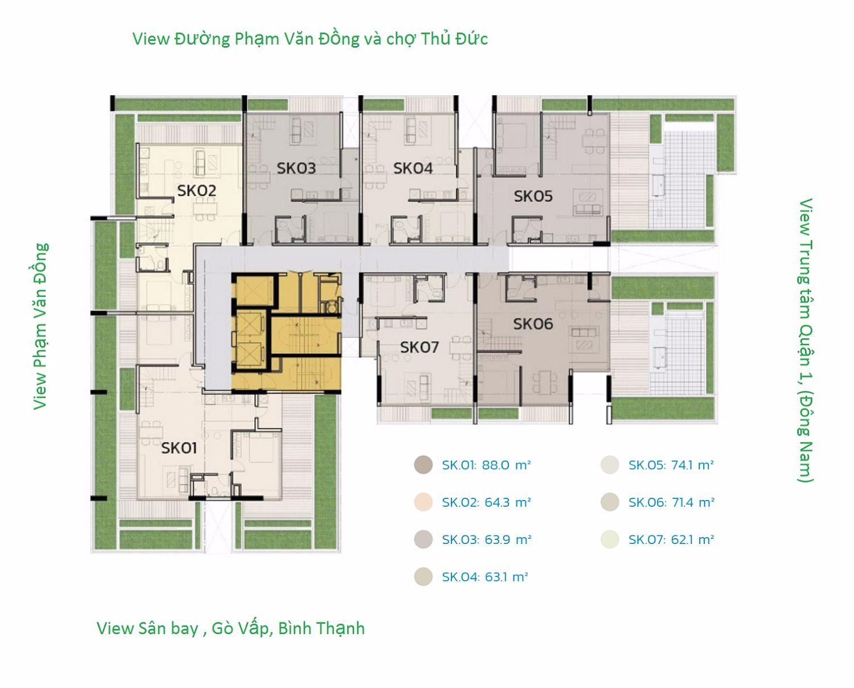 opal skyview mat bang tong the can ho Duplex