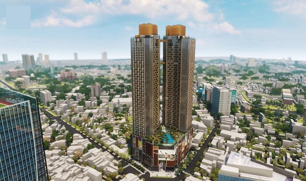Phối cảnh tổng thể dự án chung cư cao cấp Alpha Hill đường Cống Quỳnh
